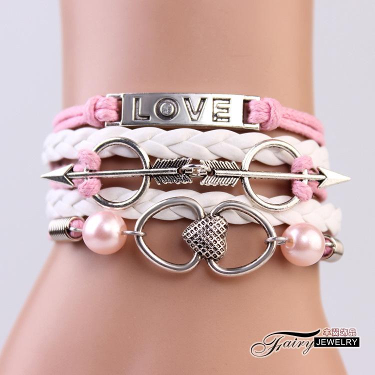 Korean Jewelry Lovers Love Bracelet Cupid Cupid Infinite Series Of Hand Jewelry Wholesale Bz020
