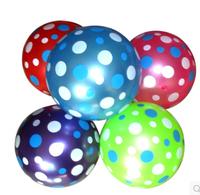 5 pcs/lot free shipping new design round dot Inflatable balls fashion Children bouncing balls