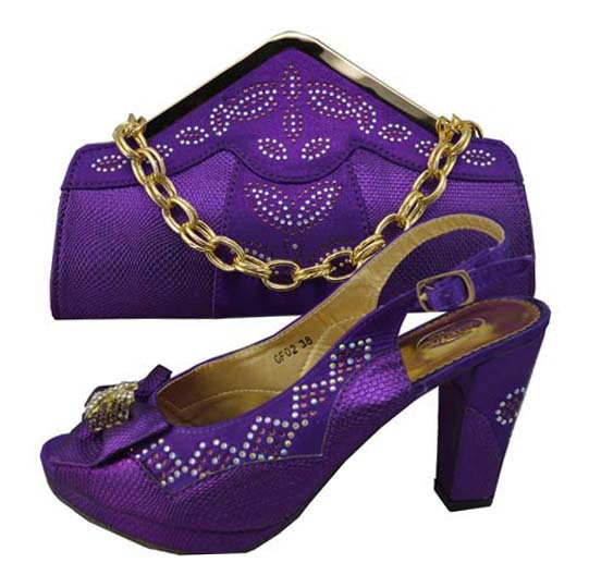 GF02B-purple-color-Lady-African-Fashion-Shoes-and-Matching-Bags-set ...