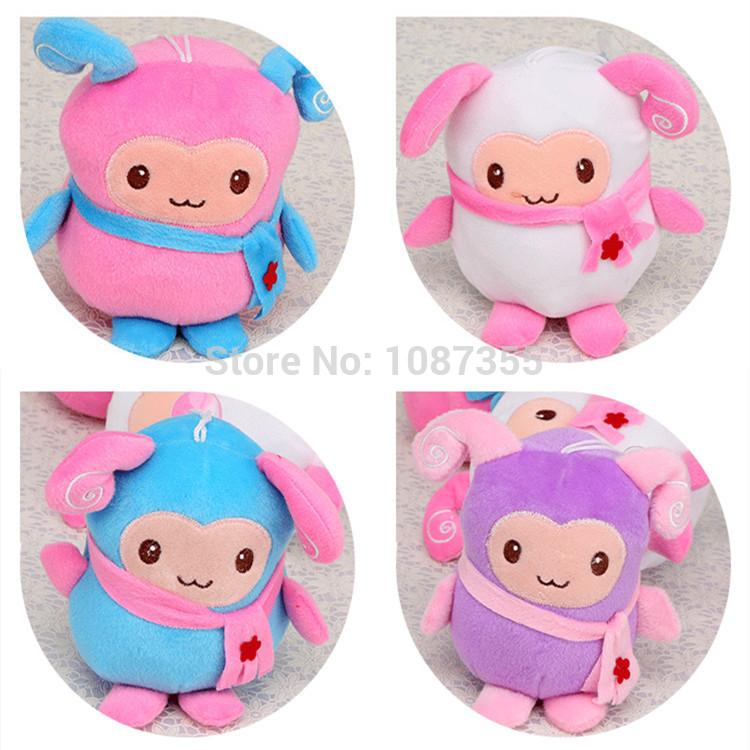 3pcs/lot 10cm Small Plush Toys Kawaii Sheep Kids Doll Birthday Christmas Valentine Gift Pendant(China (Mainland))