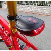 NEW UFO shape Bicycle laser taillights Safety Warning Lights 5 LED+ 2 Laser Flashing Lamp Light