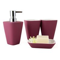 DecoTalk Ceramic bathroom set four pieces set bath set bathroom supplies nordic style rubber paint solid colors 4 colors