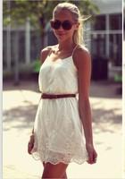 2015 Limited New Arrival Freeshipping Cotton Dobby Tropical Vestido De Renda Vestidos Free Shipping Summer Women Sexy Lace Dress