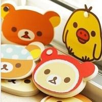 New Arrival Rilakkuma  Memo pad Cartooon  Notepad Set Korea Design Spin Notebook P150102224 Free Shipping