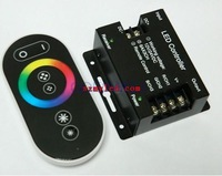 free mail RF Wireless Touch Panel LED dimmer RGB Remote Controller DC12V 216W RF Touch RGB led controller  for 3528 led strip