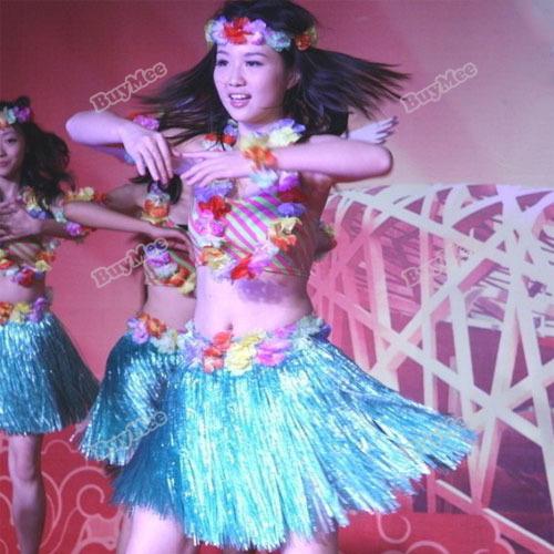 Trademin originais barnd Hot havaiano grama Luau saia flores Luau casamentos Beach Party traje atualmente(China (Mainland))