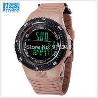 Free Shipping SYNOKE Climber wristwatch Sports Watch Swimming 50m Waterproof Digital watches LED Alarm Week Date Stopwatch