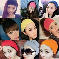 All match broad brimmed hair band elastic headband fashion elegant hair accessory yoga sports bandanas mix colors 10pcs/lot
