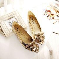 Fashion princess crystal shoes woman flats with rhinestones big size EU 33-41 by factory