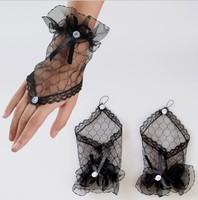 Bridal Gloves Fashion Wrist Flower Lace Diamond Bride Glove Wedding Gloves Dress Short Paragraph Mitts