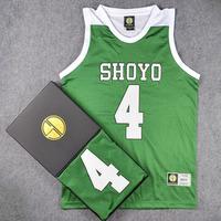 Classic Comic SLAM DUNK SHOYO Basketball Jersey With Original Box #4 FUJIMA SHOYO Basketball Jersey