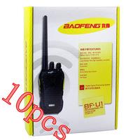 10pcs Black  Baofeng BF-U1 Walkie Talkie 5W 16 Channels UHF 400-480 MHz VOX Scan Voice Prompt Monitor Two Way Radio