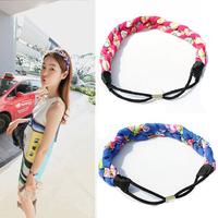 mix color 4pcs/lot women fabric hair bands elastic twist headband twisted sweet hair accessory female