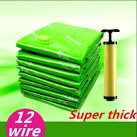 Free  pump Free shipping 5pcs/lot 70*50cm/80*60/100*70/100*80/100*80*40CM Vacuum bags compressed space bag