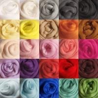 10g/bag for 26 Colors Merino Wool Fibre Roving For Needle Felting Hand Spinning DIY Fun Doll Needlework