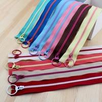 2015 New! Bright color 20cm 3# Resin contrast color zipper fashion pull ring zipper head DIY handwork Bag Close-End 20Pcs/lot