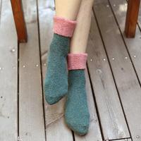 Free shipping!women socks female sock Winter wool socks 5pairs/1ot candy color