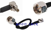 20pcs/lot  F Male plug to CRC9 male right angle pigtail RG174 cable 40cm for Huawei USB adapter