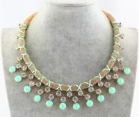 Summer 2015 fashion big star fan of luxury dazzling Crystal rhinestone necklace choker jewelry statement