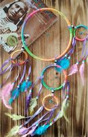 5 circles rainbow hunter substance  Big Dreamcatchers Cute Colorful Dream Catcher home/car decor  A257