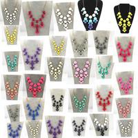 FreePP Bubble Statement Necklace Choker Jewelry Round Acryl Beaded Women Fashion Black Necklaces