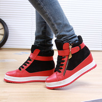 2015 new arrival height increasing boots woman fashion sneakers free shipping