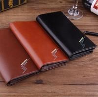 new 2015 men wallets famous mens long thin wallet male money purses with Flip up ID Window thin long walet purse clutch