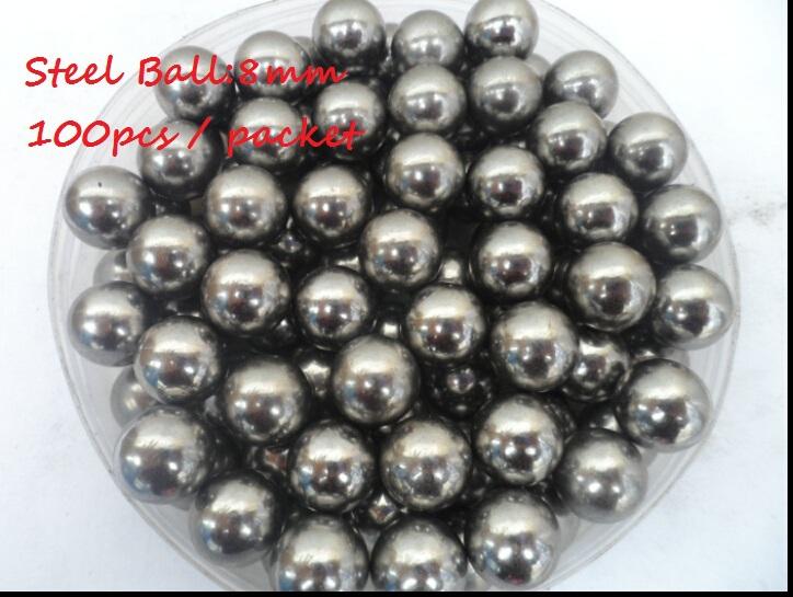 "Free shipping ! 100pcs/lot(0.042$/pcs) ! 5/16"" (8mm) Steel Balls Professional slingshot ammo outdoor(China (Mainland))"