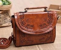 designer original  sweet lady retro vintage  hollow out PU mori girl  handbag shoulder bag