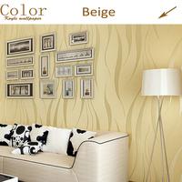 KOYLE - Non-woven modern stripe papel de parede 3d flocking bedroom room glitter wallpaper wall paper roll