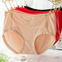 Solid color modal women's mid waist trigonometric panties women's underwear 100% cotton sexy briefs