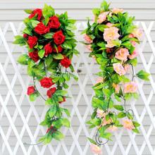Artificial Fake Silk Rose Flower Ivy Vine Hanging Garland Wedding Decor Stylish(China (Mainland))