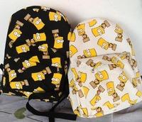 Fashion Bart Simpson women printing backpacks canvas students outdoor school backpack shoulder bags mochila Korean preppy style