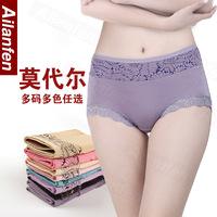 5 pieces modal panty mid waist lace plus size high waist briefs seamless low-waist 100% cotton sexy underwear