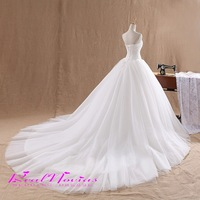 2015 Hot sale 80cm trailing Strapless Tulle Silk Organza Wedding dresses bridal wedding gown