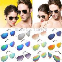 HOT 1PC Vintage Men Women Sun Glasses Aviator Mirror Lens Glass Unisex Beach Eye Glasses Cheap Sunglasses