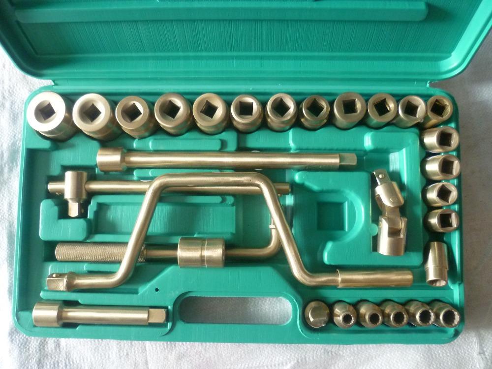 "1/2"" Dr Socket Set 32pcs(socekt 8~32mm) Aluminum Bronze Spark Free Hand Tools(China (Mainland))"