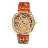 relogio feminino 2014 Charm Butterfly bracelet watches,embroidery band Women Dress Watche quartz wristwatch