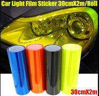 "13 Colors 12""X80"" 30CMX200CM Auto Car Light Headlight Taillight Tint styling waterproof Vinyl Film Sticker Free shipping"