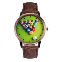 New Arrive Canvas Band Quartz Watches Table tennis pattern design For Women Men Watch Casual Wristwatch