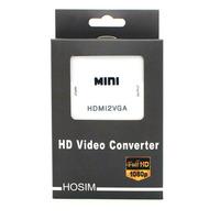 Hosim HDMI to VGA Converter 1080P 60Hz VGA Output mini HDMI to VGA with audio for PC laptop to HDTV Projector