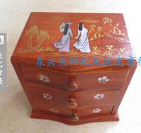 Mahogany casket Grass hua limu jewelry box High-quality multi-layer jewelry box