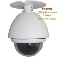 Outdoor 3.5 inch super PTZ mini high speed dome camera, EFFIO Sony 1/3 CCD 700TVL 10X optical zoom