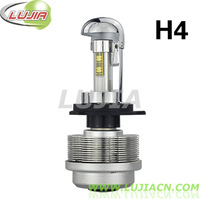 Free shipping 1set/lot 3600LM DC 12V H4 car LED headlamp, car led headlight H4, car led H4 P43T,flips customized chips 9004 9007