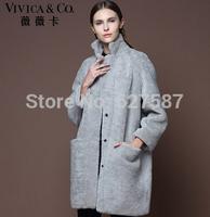 2014 New Women real genuine lamb fur coat New luxury winter sheep fur coat lady fur outerwear free shipping