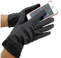 Wholesale Touch Screen Gloves PU Leather Gloves Women Lace Glove 500Pair/lot