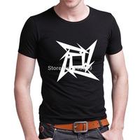 Metallica T Shirts Men Diamond Mens Metallica tshirt Cotton O Neck Man Camisetas Short Sleeve Tees Free Shipping Euro Size