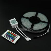 20set/lot Free Fedex  5M 12V 300LED IP67 Tube Waterproof RGB 5050 LED Strip Colorful Light + 24 Keys IR Remote Controller