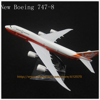 6.30 inch new boeing 747-8  alloy plane model toy orange white color Free shipping