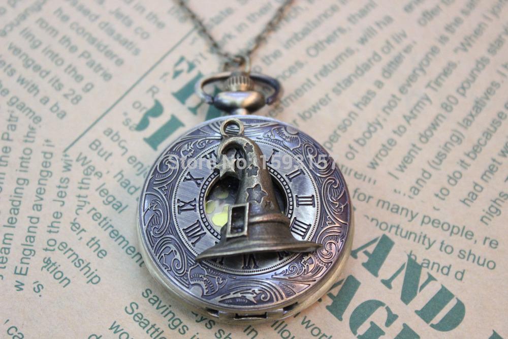 Hogwarts sorting witch Hat pocket watch. Harry Potter Jewelry Lightning Bolt Charm. Hogwarts. Fantasy. Wizard(China (Mainland))